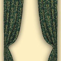 Шторы изжаккардовой ткани  «Антуанетта (изумруд)»
